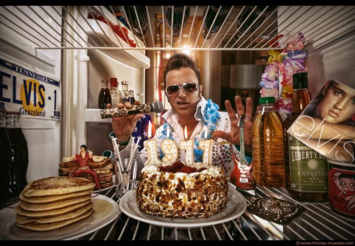 photo originale dans un frigo par thomas muselet elvis Presley dans un frigo
