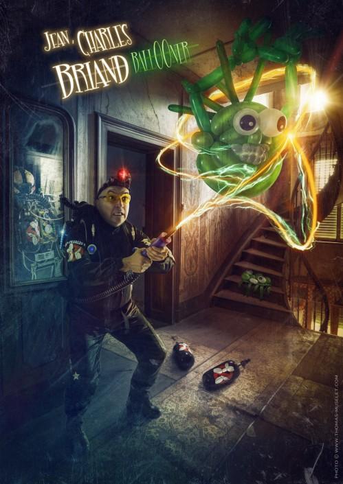 Photo d'un magicien avec des fantômes