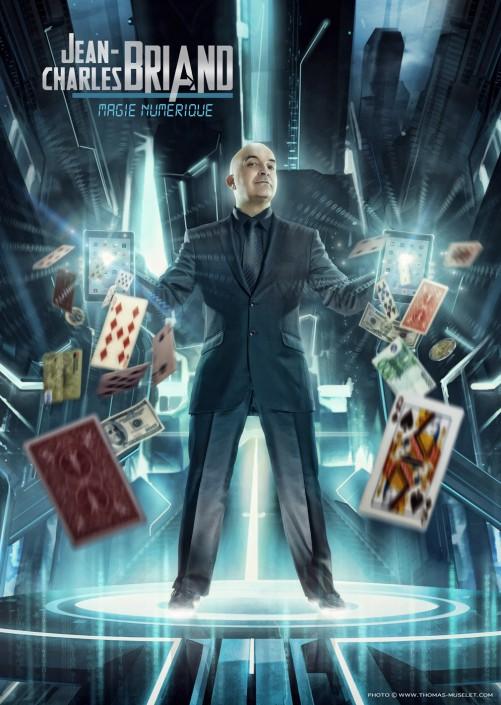 Photo d'un magicien avec un ipad