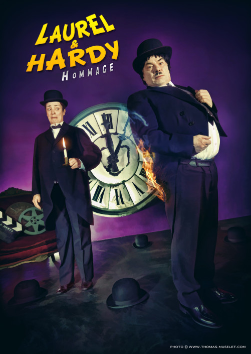 photo de spectacle de laurel et hardy