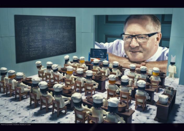 Photo d'un cuisinier avec des playmobiles