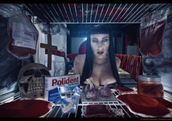 une vampire dans son frigo