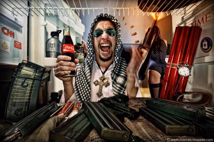 un terroriste dans un frigo