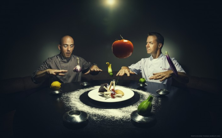 photo originales de cuisiniers pour un calendrier. de la magie en cuisine