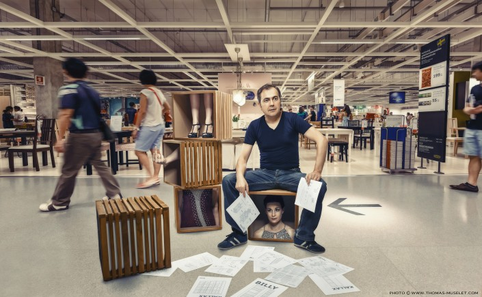 photo d'un couple de magiciens originale chez Ikea