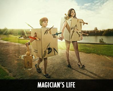 photos de magiciens originales et magiques