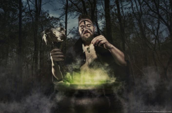 photo de florent ladeyn en druide magicien