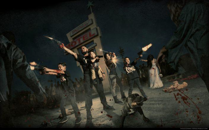 photos artistiques avec des zombies