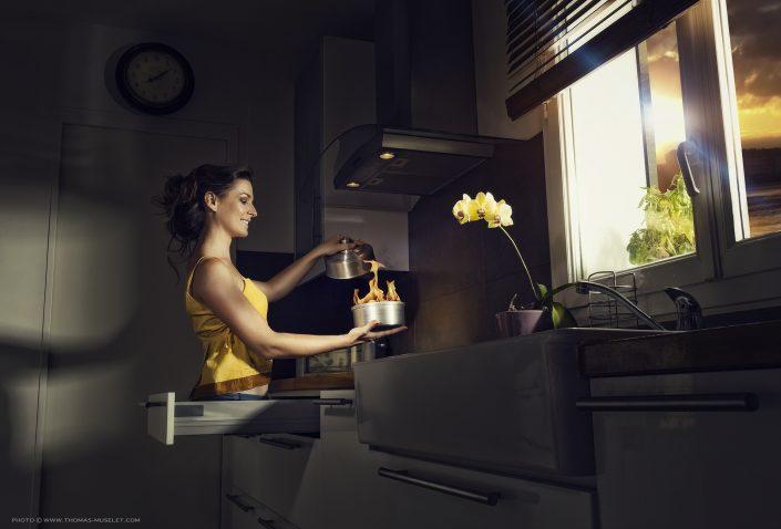 photo de Mao la magicienne dans sa cuisine