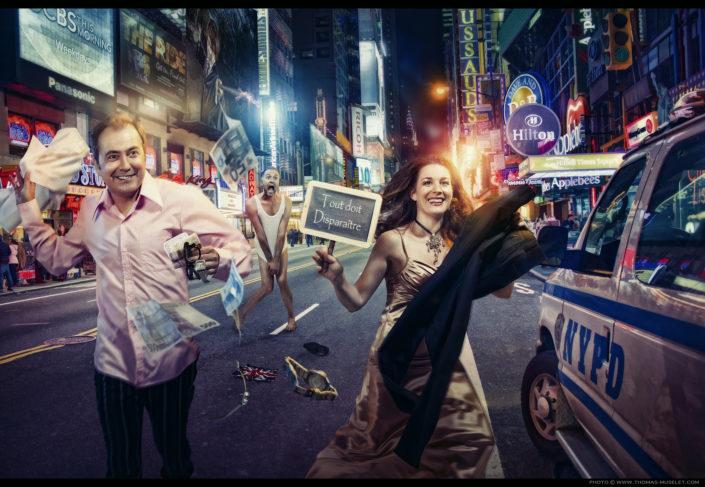 photos de magiciens qui courent dans les rues de new york
